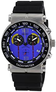 Nautec No Limit Herren-Armbanduhr XL Touring Chronograph Quarz Kautschuk TU QZ/RBSTBKBL-YL
