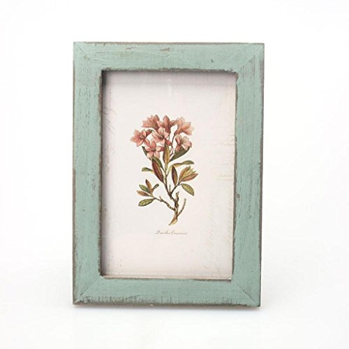 Vovotrade Decoracion de casa de madera marco de fotos vintage Wedding casamento marcos para fotos (verde)