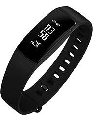 DIGGRO DB-03 Smart Bracelet de Sport Bluetooth IP67 Pression Arterielle Pédomètre Calorie Moniteur de Fréquence Cardiaque Sommeil Rappel Période physiologique Call/SMS Rappel Sédentaire pour Android et IOS