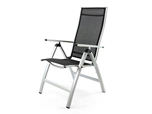 Galleria fotografica Sedie da giardino esterno in alluminio con bracciolo 7 posizioni