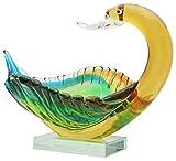 Glasschale Glasfigur Schwan Figur Schale Glas im Murano Antik Stil 27cm