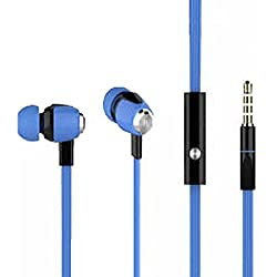 EAR PHONES/HEADPHONES!MOBILE ACCESSORIES DAY!RAMZAN SALE!!FATHERS DAY OFFERS!TODAY'S DEAL !!!EAR PHONE Metal Dot Champ earphone with MIC – Flat Tangle Free Wires - compatible for OnePlus Lenovo Samsung Apple Iphone Xiaomi Motorola Asus Honor Intex Oppo Cool pad Gionee HTC Vivo Micromax data wind LeEco Lava LYF Spice Blackberry Infocus Android Mobiles/ Tablets, Laptops & Gaming Consoles EZ198-BLUE