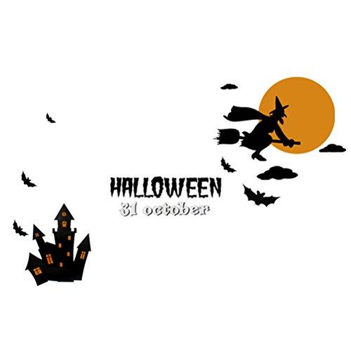 Hosaire 1x DIY Glasaufkleber Wandaufkleber Kreativer Elektrostatische Aufkleber Fensteraufkleber Halloween Party Dekoration 72X50CM Stil 3