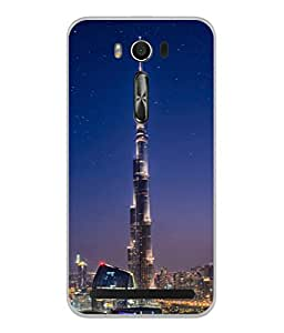 PrintVisa Designer Back Case Cover for Asus Zenfone 2 Laser ZE500KL (5 inches) (Glass Modren High Architecture Monument Picture)