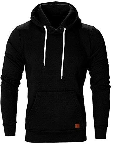 Turnglam M-5XL Pull Herren Jacke Hoodie Casual Sweatshirt Slim Fit solide Farbe mit vorderen Tasche Outwear Tops