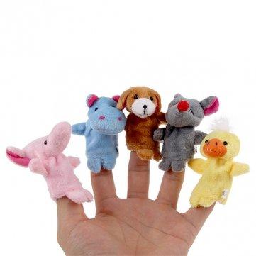 Bheema 10 Stück Plüsch- Fingerpuppen Tier Set Spielen Lernen Story Toy Baby-Puppen