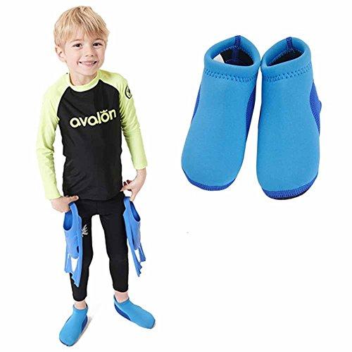 Vine Baby Schwimmen Schuhe Baby Wasserschuhe Strand Schuhe Baby Neopren Foulard weiche Schuhe, Blau 13cm (Pool-strand-schuhe)