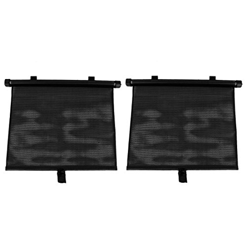 sourcingmap 2 Pcs Sonnenschutz Autofenster Sonnenschirm Rollvorhang Wagenfenster 48cmx36cm