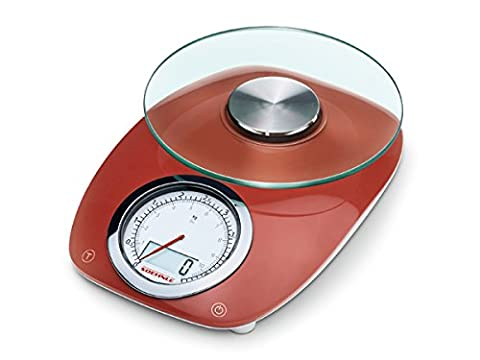 Soehnle Vintage Style Kitchen Scale, Stainless Steel, Red