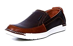 Provogue Mens Coffee Brown Canvas Sneakers (PV6016) - 10 UK