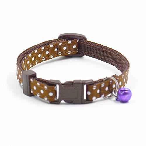 NANIH Home Niedliche Exquisite verstellbare Glocke Halsband schöne kleine Hundehalsband Katze Halsbänder Nacklace (Kaffee) - Individuelle Kaffee-pakete
