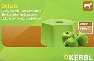 Kerbl Cheval Recharge pour Bloc à Lécher Delizia 650 g Pomme
