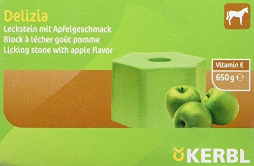 Kerbl Delizia Leckstein Nachfüller Apfelgeschmack, 1er Pack (1 x 0.65 kg)