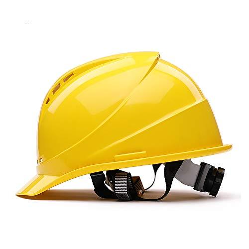ChengLao Schutzhelm Schutzhelm - UV-Schutz hochfestes ABS-Material Bauhelm Bautechnik Verdickungshelm Elektroisolierhelm Site-Helm (Color : Yellow)