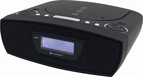 Soundmaster URD480SW DAB+ UKW Digital Radio Wecker mit CD-MP3 Resumefunktion und USB