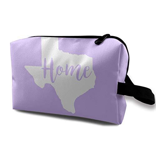 Zuhause Texas State 2 Reisen Make-up Tasche Case Organizer Tasche Reißverschluss (Honig Aus Texas)
