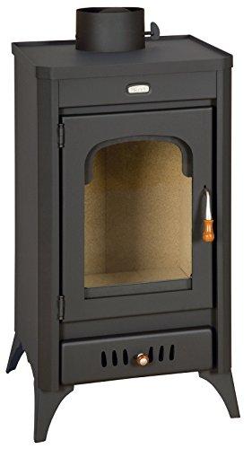 Holz-Ofen Kamin Multi Kraftstoff Log Brenner Keramik Glas 11kW Prity SR