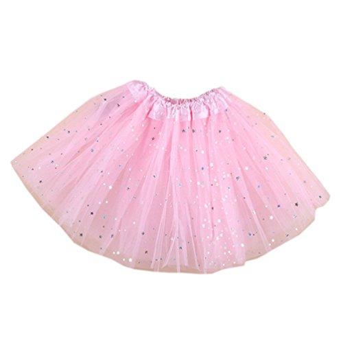 Mactery Bambini Ragazze Tutu Gonna Gonna di tulle tutu di balletto 4-10 anni Rosa chiaro
