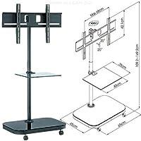 "Allcam FS941 52"" Portable flat panel floor stand Negro - Soporte de pie para pantalla plana (Negro, Portable flat panel floor stand, 94 cm (37""), 132,1 cm (52""), TV, 40 kg)"