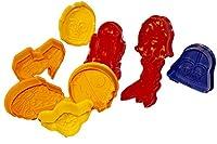 Star Wars-Stampini ad espulsione e rilievo, 9pezzo circa 5x 4cm che sono molto facile da pulire e sono reale della Hit per torta con fondente o pasta di mandorle, per impastare o biscotti cuocere. Die sono anche molto facile da usare: so...