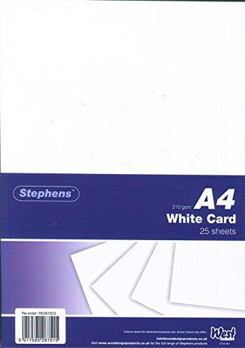 Stephens Pack de 25 feuilles de papier cartonné Blanc