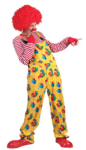 (Karneval-Klamotten Clown-Kostüm Herren Clown-Latzhose Gelb mit Ballons Männer Clown-Latzhose Herren-Kostüm Größe 52/54)