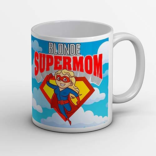Idea regalo tazza tazze festa della mamma, (super mom) per compleanno o qualche altra occasione con frase dedica e disegno