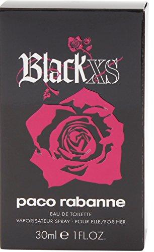 Paco Rabanne Black XS for her femme / woman, Eau de Toilette, Vaporisateur / Spray 30 ml, 1er Pack (1 x 30 ml) - 4