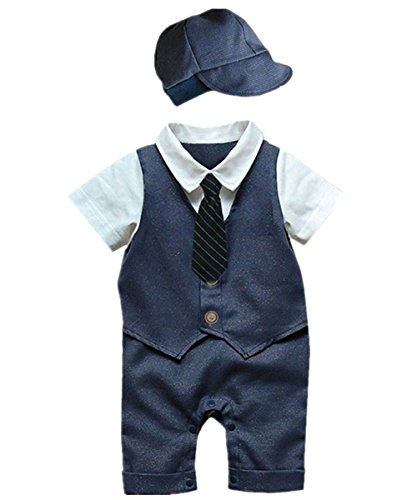 Fasenix Groundhog with Hats Newborn Baby Boy Girl Romper Jumpsuit Long Sleeve Bodysuit Overalls Outfits Clothes