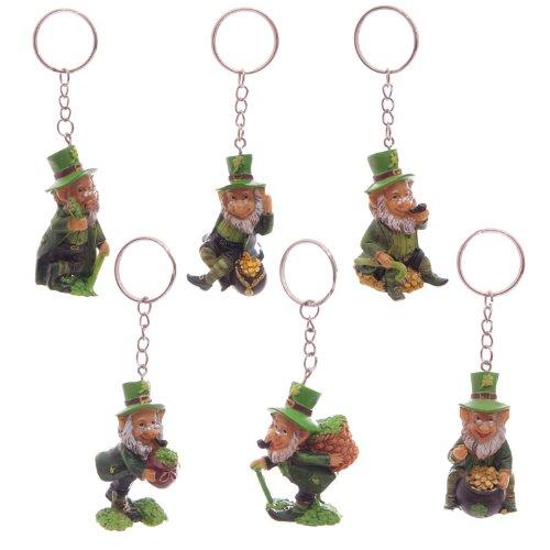 Fun zum Sammeln Lucky Leprechaun Schlüsselanhänger–Höhe 3,5–5,5cm Breite 2,5cm–4cm Tiefe 2–3cm (Kinder-gießkanne Krug)