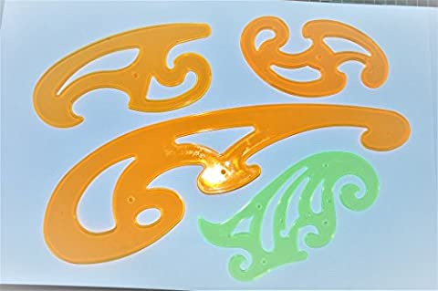 HONGBE 4 French Curves Set, Curved Edge Stencil