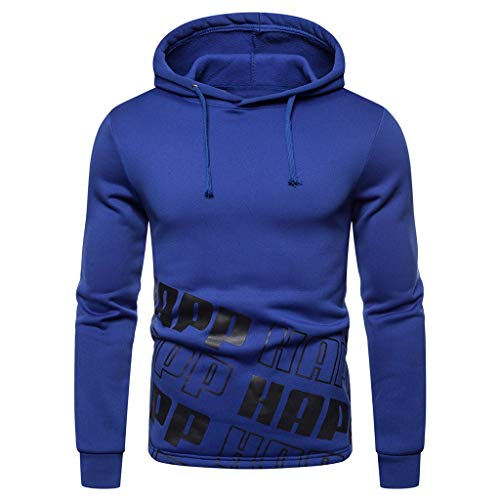 UFODB Herren Sweatshirt O-Neck Pullover Pulli Herbst Winter Drucken Sweatjacke Hoodie Kapuzenjacke Kapuzenpullover Outwear Tops M-3XL