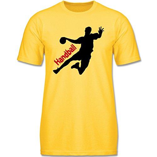 Menschen Profil Wie (Sport Kind - Handball - 152 (12-13 Jahre) - Gelb - F140K - Jungen T-Shirt)