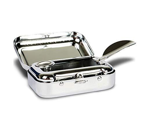 Taschen Aschenbecher für Unterwegs - klein & geruchsdicht - tragbarer Mini Taschenaschenbecher zum mitnehmen - Reiseaschenbecher für die Handtasche - geruchloser Ascher