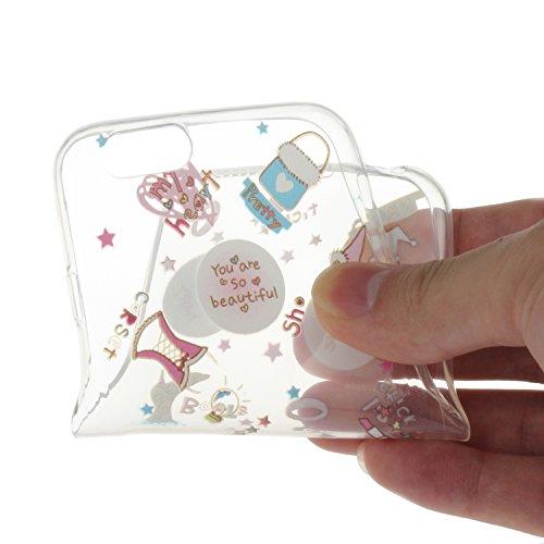 """Für iPhone 6/6S 4.7"""" [Scratch-Resistant] Weichem Handytasche Weich Flexibel Silikon Hülle,Für iPhone 6/6S 4.7"""" TPU Hülle Back Cover Schutzhülle Silikon Crystal Kirstall Durchschauen Clear Case,Funyye  Karikatur Zubehör"""