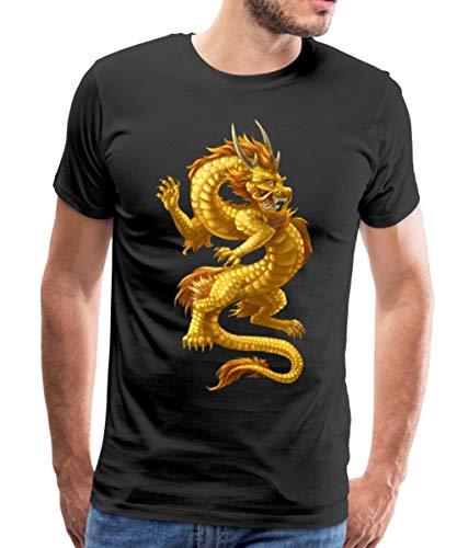 Chinesischer Drache Männer Premium T-Shirt, 4XL, Schwarz