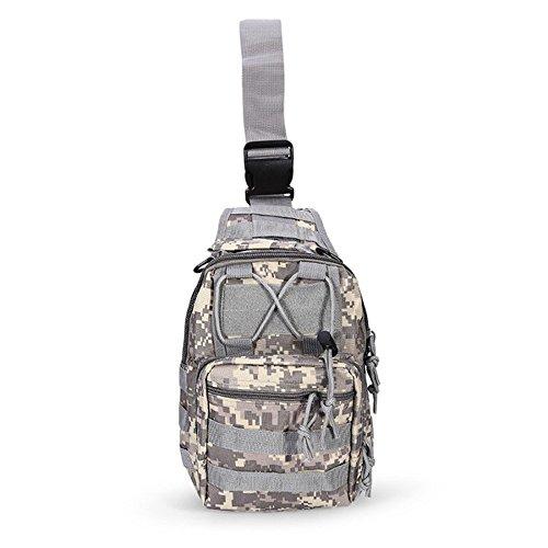 Ajusen Military Umhängetasche Brusttasche Rucksack Multifunktions Tactical Schultertasche Chest Bag für Radfahren Wandern Camping 3