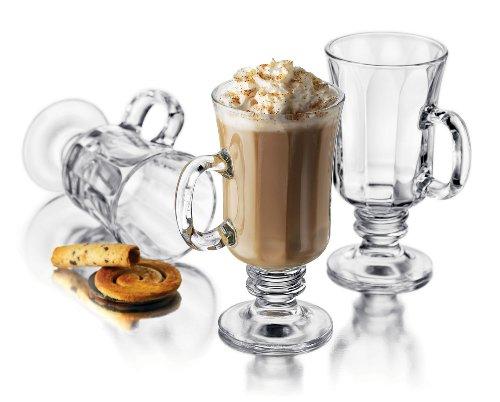Libbey Milan 8-1/4-Ounce Irish Coffee Mug in Optic, 4-Piece Set by Libbey