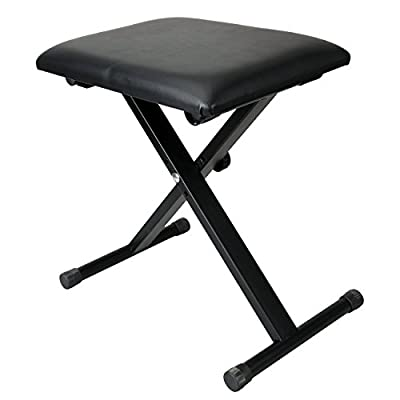 Euroeshop Adjustable Height Black Piano Stool Keyboard Bench Padded Seat Cushion Chair Perfect gift