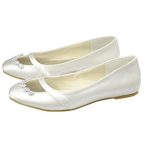Kevin Fashion , Chaussure de mariée fashion femme ivoire (ral 1013)