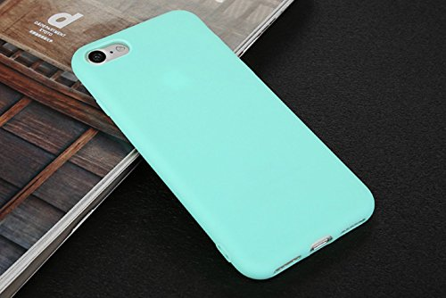 Incendemme Handyhülle für iPhone 5/ 5s/ SE weiche Dünn Mattglasbirne Schutzschale für iPhone mit Einfarbig Design Handytasche aus TPU Handy Hülle Etui cover case (Transparent) Blau