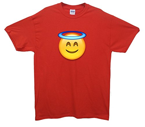 Angel Face Emoji T-Shirt Rot