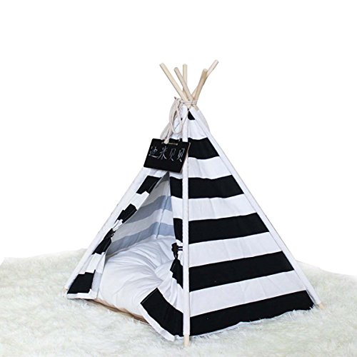Shanzhizui Rayas blancas negras Tienda mascotas Medio