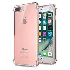 Idea Regalo - Jenuos Cover iPhone 7 Plus/iPhone 8 Plus, Custodia Antiurto Paraurti Silicone Trasparente Cover TPU per iPhone 7 Plus And iPhone 8 Plus 5.5