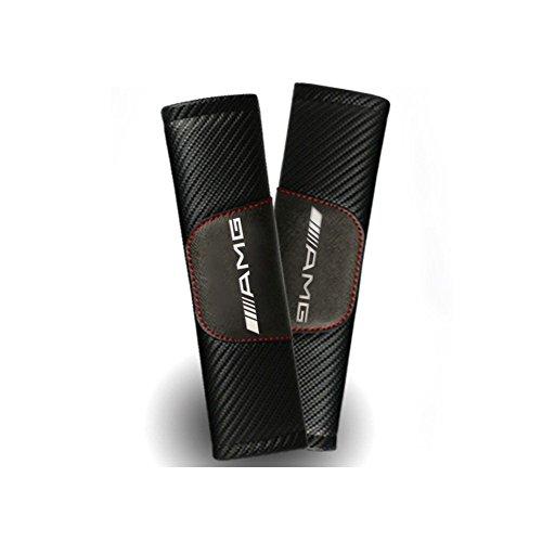 Kohlefaser Sicherheitsgurt Bezug Schulter Pad Kissen für AMG glk300GLA c200l GLC CLA. (2Pcs)