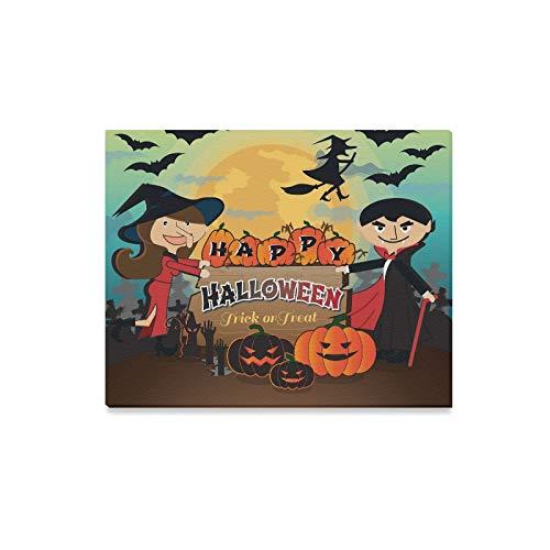 WDDHOME Wandkunst Malerei Happy Halloween Scary Creepy Pack Trick Drucke Auf Leinwand Das Bild Landschaft Bilder Öl Für Zuhause Moderne Dekoration Druck Dekor Für Wohnzimmer