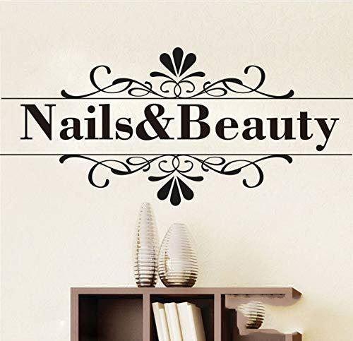 Knncch Nagel Schönheit Zitat Wandaufkleber Barber Shop Nail Art Design Maniküre Salon Wandtattoo Vinyl Durable Einfach Abnehmbare Wohnkultur (Halloween Einfache Nail-art)
