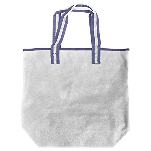 Bagbase - Palma - Borsa da 18 Litri Bianco/Blu