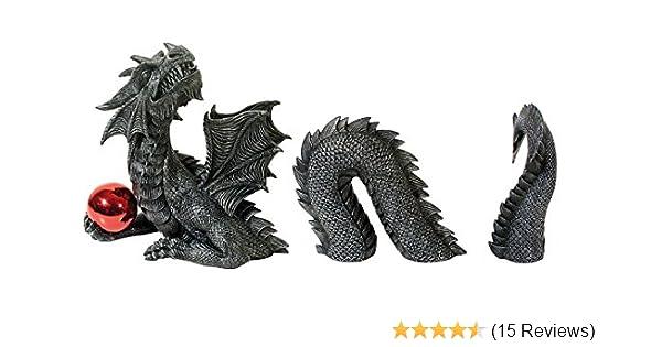 Großer 3 teiliger Gartendrache Dragon Figur Drache TOP