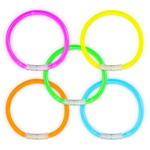 Hochwertige phosphoreszierende Armbänder, 100 Stück